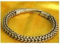 Asian China Superb Jewelry tibetan miao silver bracelet Bangle shipping free