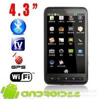i9220 mtk6575 1.0 ГГц смартфон 3g видео вызова gsm 5,0 дюймовый мульти сенсорный супер тонкий tv wifi gps android 4.0