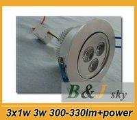 Guaranteed quality,3x1w 3w white led ceiling light,3w led light