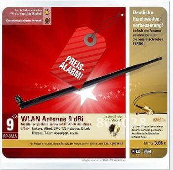 2.4G 9DBI high-performance antenna ABS plastic Wireless Lan omnidirectional SMA Antenna