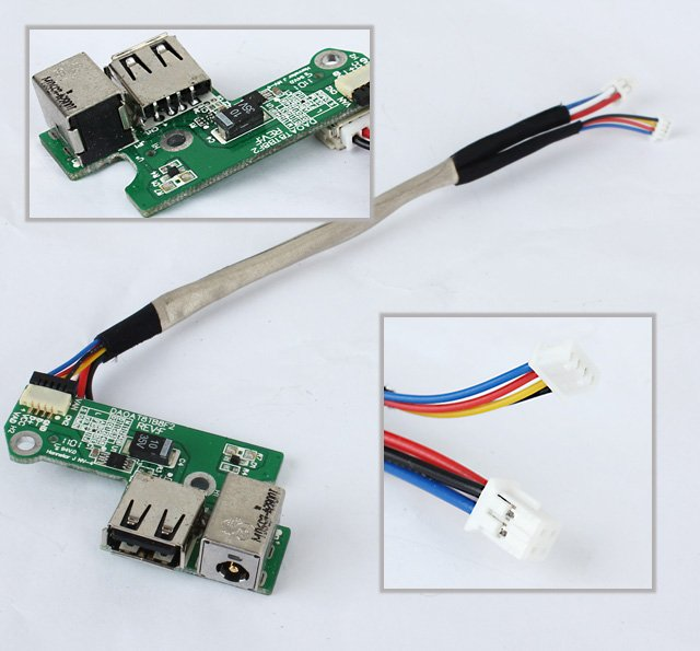 Free shipping USB DC jack power connector board cable for hp PAVILION dv6000 65W DAOAT8TB8F2(China (Mainland))