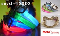 free shipping+20/lot+ flashing led dog collar, flashing dog collar, colorful led flashing dog collar, led light dog collar