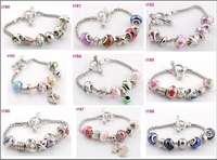 new handmade colorful beads  European style murano glass 20cm chain  bracelet