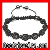 2pcs/lot,Wholesale Tresor Paris Bracelet TP2004 with Black Czech Pave Crystal and Hematite Free Shipping