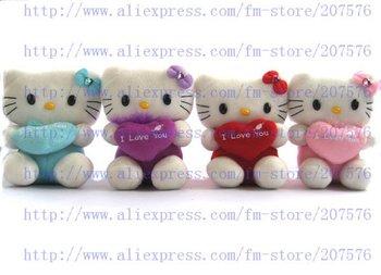 Free shipping 24pcs hello kitty doll soft Toy Plush Toys 18X14cm