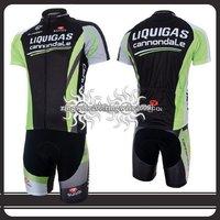 Free Shipping!! CYCLING SHORTS JERSEY+SHORTS BIKE SETS CLOTHES 2011 LIQUIGAS TEAM-SIZE:S-4XL