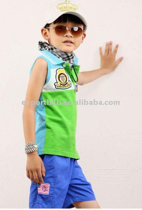 Korean sleeveless polo boys tshirt children s short sleeves t shirt