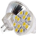 MR11 G4 Warm White 12 SMD LED Light Bulb Lamp