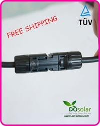 DHL FREE SHIPPING--MC4 Solar Connector,Solar cable Connector,TUV+IP67+Rated Current 30A for PV panel, solar power system,plant(China (Mainland))