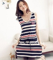 Free shipping!!! HOT SELL!! wholesale Stripe Dress,HOT selling Fashion slim pencil dress women's evening dress ladies' dress