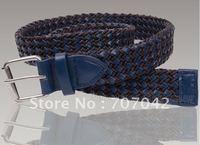 Free shipping Fabulous Fashion blue 100% Genuine leather Women Waist belt /BRAIDED BELT B007