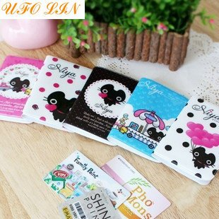 Free Shipping/cartoon cat Card Holder/card pocket/card case/card bag/coin pocket/pouch/wholesale(China (Mainland))