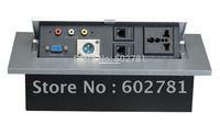 10 pcs Multifuction Desktop socke, 2 x US 110V, 2x USB, 1 Phone, 1 Data (rj 45)