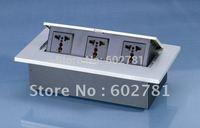 10 pcs Silver Pop-up Combination Plate with Multifuction Desktop socke 3X3 pin sockets