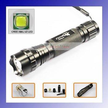 Ultrafire 501B Cree XM-L U2 1300 Lumen 5-Mode Cold White LED Flashlight + Free Shipping