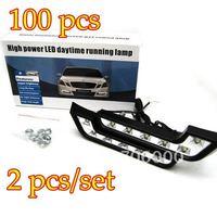 100PCS/LOT L Shape 6W LED Daylight Running Lamp LEDs / Daytime Running Light
