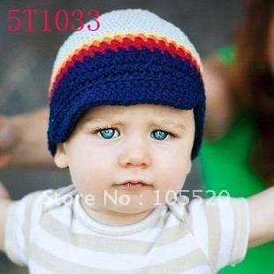 Free shipping 120pcs Boys hats baby Caps knitting hat crochet hat headband beanie dark blue popular