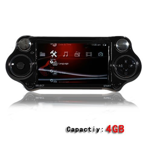 PSP Design 4GB 4.38&quot; Portable Media MP5 Player with Game Player &amp; 10.0 Mega Pixel Digital Camera-Black(China (Mainland))