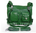 2345# Wholesale Fashion Green Shoulder Messenger Bag Backpack Real Leather Free Shipping By DHL