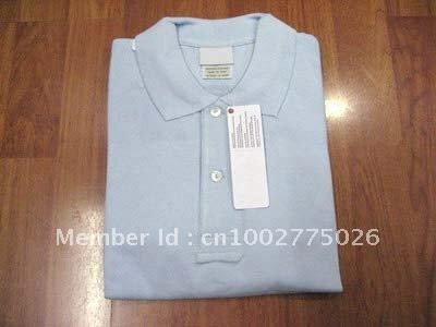 Roupas de vender como bolos quentes clássico corpo ocioso T-shirt puro lapela cor dos homens(China (Mainland))