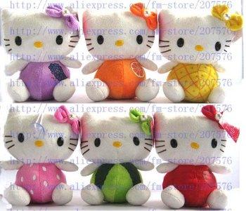 Free shipping 24pcs   hello kitty Children's lovely doll soft Toy Plush Toys  +18X14cm