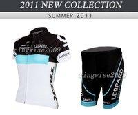 Free Shipping!! WOMEN CYCLING JERSEY+SHORTS BIKE SETS CLOTHES 2011 LEOPARD TREK-WHITE-SIZE:XS-XXL