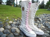 Free shippment women Shoes Canvas shoes Boot Sneaker Knee HIgh