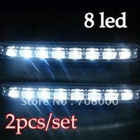 New 8LED led Daytime Running Light / High Quality led Daylight Running Lamp / Fog Light