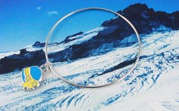 30PCS Enamel Ribbon Hat Charm Bangle Bracelet #20218