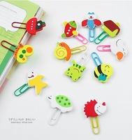 new arrive wholesale  Cute Stationery Cartoon Wooden Clip Bookmark  student's gift  mix order