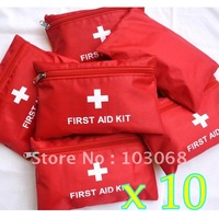 10PCS/LOT EMERGENCY FIRST AID KIT Bag Pack TRAVEL Sport SURVIVAL Free Shipping