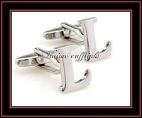 "intime fashion free shipping Sell cheap,high quality,""L""classic mental cufflinks (7502)"