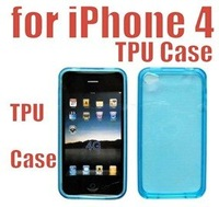 Wholesale -  100pcs/lot  FREE SHIPPING NEW Brand TPU Silicone Case Skin Cover For iPhone 4 free shipping