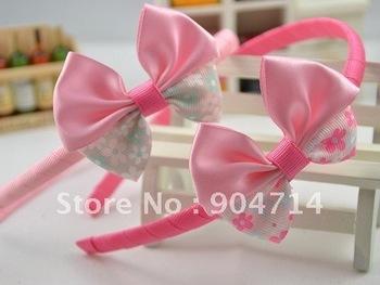 2011 new,chlidren bow flower hair bands/ lace flower crown kids headband/kids headdress/children hair loop hair pin wholesale