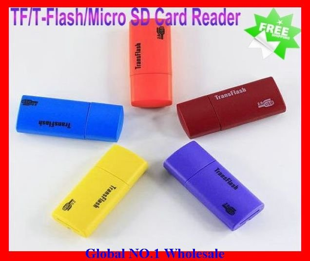 Free Shipping Best Selling 100PCS/LOT flash memory card reader,USB 2.0 TF/T-Flash/Micro SD Card Reader (UT-XG)(China (Mainland))