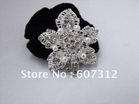Fashion , Rhinestone hair holder, hair flower with high quality rhinestone  and pearl,free shipping