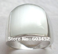 Free Shipping ;Exquisite White Opal 18k GP White Gold Men's Ring .Size:8-11. Style free collocation.3 a preferential prices,