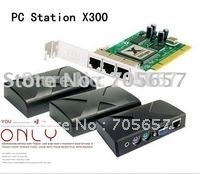 Ncomputing Thin Client PC station X300 with 1 PCI card and 3 User Terminals(China (Mainland))