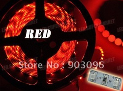 holiday sale one roll Red 3528 nonwaterproof 600leds/5M(China (Mainland))