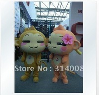 Hot Sale,High Quality Mascot Costume,CICI&YOYO,monkey costume,cartoon costume,free shipping