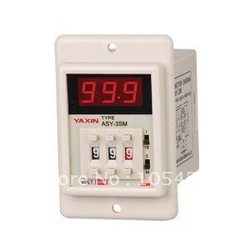 12VDC/24VDC/110VAC/220VAC digital power on time delay relay timer 0.1s-999m LED display ASY-3SM 8 pin panel installed DPDT(China (Mainland))