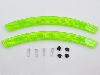 Wholesales Bicycle Spoke-mounted Wheel Reflector Bike Green Set free shipping RE-103