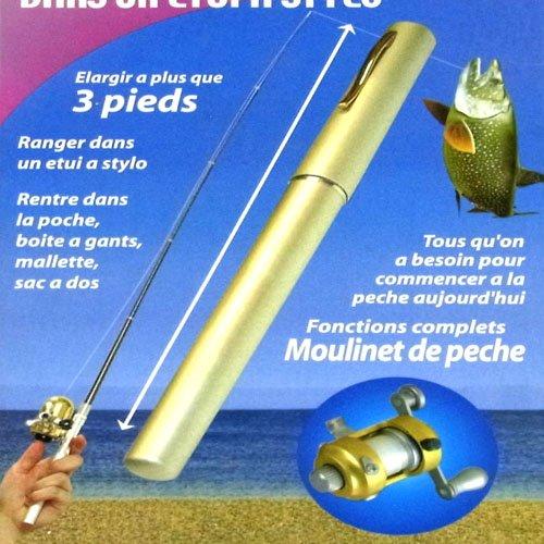 Mini Pocket Aluminum Alloy Pen Fishing Rod Pole Reel  #1629