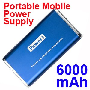 6000mAh Mobile Power Emergency Charger FOR Phone MP3 MP4