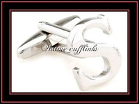 "intime fashion free shipping Sell cheap,high quality, ""S""  mental cufflinks (7509)"