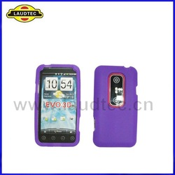 100pcs/lot New Arrival Purple Color soft skin Silicone Case Cover for HTC EVO 3D + DHL Free Shipping(China (Mainland))