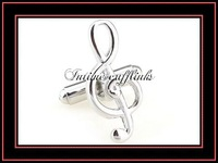 "intime fashion free shipping Sell cheap,high quality, ""musical note""  mental cufflinks (7267)"