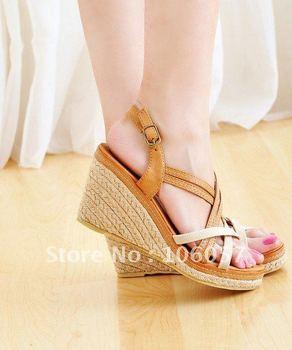 2011 new Sweet sexy Women high-heeled sandals high-heeled shoes wedges sandals Women's Shoe/Women's Shoes