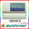 Intelligent solar water heater controller SR530C8,lcd display solar thermal controller,solar heating system controller