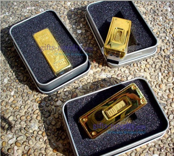 quality guaranteed 4G Novelty Gold Bar shaped USB Flash Drive gold brick USB Drive U disk +free shipping +5pcs/lot(China (Mainland))
